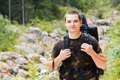 Ready for Hiking Mountains Royalty Free Stock Photos