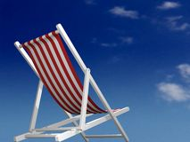 Ready for holiday. Beach chair and sky background Royalty Free Stock Photography