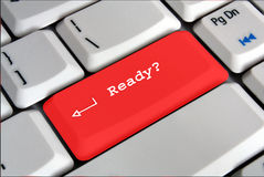 Ready key on keyboard Royalty Free Stock Photography
