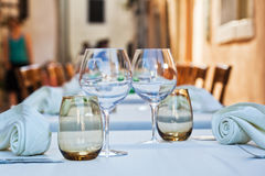 Ready laid table of a restaurant Stock Photography