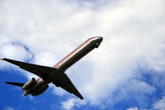 Ready for Landing. Passenger jet - ready for landing Stock Image