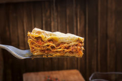 Ready lasagna on the blade Stock Photo