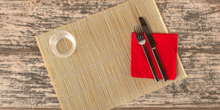 Ready for lunch. The table is ready for lunch Royalty Free Stock Images
