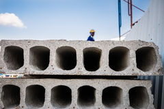 Ready-made cement wall Stock Photos