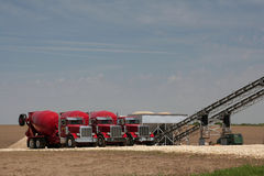 Ready Mix Plant. Ready mix concrete essential to building roads and bridges stock photography
