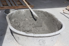Ready mixed of cement mortar. Cement mortar ready mixed for building Royalty Free Stock Photo