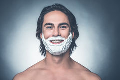 Ready for morning shave. Royalty Free Stock Images