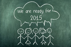 2015 We are ready for new year. Group of people prepared for 2015 Royalty Free Stock Image