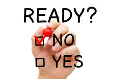 Ready No Yes Check Mark Concept Royalty Free Stock Photography