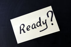 Ready ? Royalty Free Stock Images