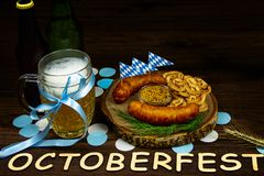 Ready for october beer festival in autumn october month in germany royalty free stock images