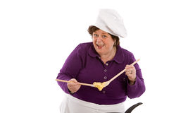 Ready for the pan. Home cook showing the dough ready to be baked Royalty Free Stock Photography