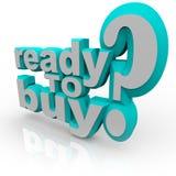 Ready per comprare le parole - faccia il vostro lavoro illustrazione di stock