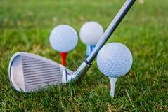 Ready per golf Fotografie Stock