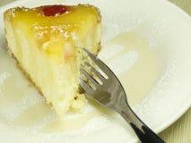 Ready per una torta dell'ananas Fotografie Stock Libere da Diritti