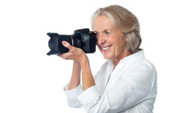 Ready for the picture? Smile Please! Stock Images