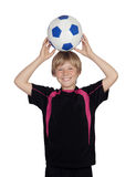 Ready for playing soccer Royalty Free Stock Image