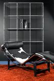 Ready for relax. Detail of modern livingroom whit leather anatomical chair Royalty Free Stock Image