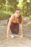 Ready For Running Fitness Lifestyle Royalty Free Stock Photography