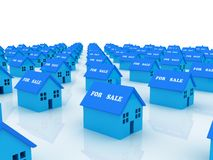 Ready for sale. 3D generated image. Concept of real estate Stock Photography