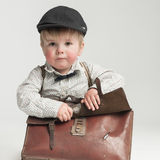 Ready for school in retro style Royalty Free Stock Image