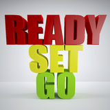 Ready, set, go Royalty Free Stock Image