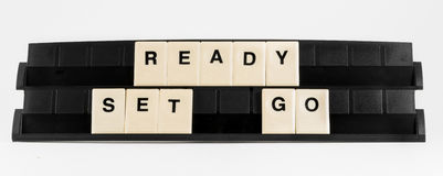 Ready Set Go stock image