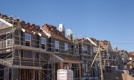 Ready for siding new home construction Stock Image
