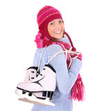 Ready for skiing! Stock Images