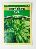 Unopened Pack of Basil Herb Stock Image