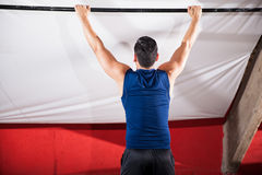 Ready for some pull ups Stock Photography
