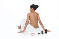 Ready for SPA treatment. Royalty Free Stock Images