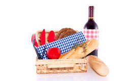 Ready for a summer picnic. Isolated over white Stock Images