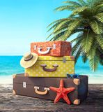 Ready for summer vacation, travel background stock photos