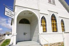 Ready for sunday. Older christain church. Still in use Stock Photos