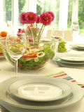 Ready table set Stock Photography