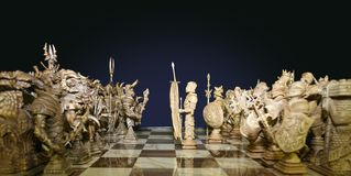 Ready to attack. Chess board Royalty Free Stock Photos