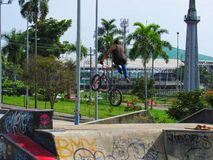 Ready to bmx in the Colombia royalty free stock image