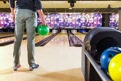 Ready to bowl Stock Image