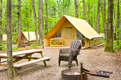 Ready-to-camp tent royalty free stock photo