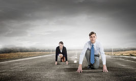They are ready to compete Royalty Free Stock Photo
