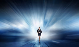 She is ready to compete Royalty Free Stock Photography