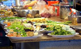 Ready to Cook Chinese Dishes Royalty Free Stock Photos