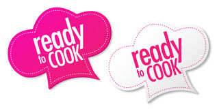 Ready to cook stickers Royalty Free Stock Photo