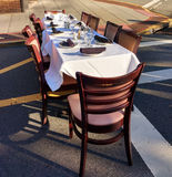 Ready to Dine Al Fresco at a Dining Under the Stars Event Royalty Free Stock Photography