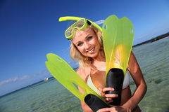 Ready to do snorkeling Royalty Free Stock Image
