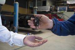 Car repair status Royalty Free Stock Photos