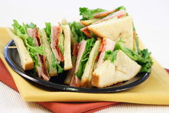 Ready to eat club sandwich. Fast great food  colorful and delicious,perfect for picnics and quick bites Stock Images