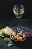Ready to eat Escargots de Bourgogne snails Stock Image
