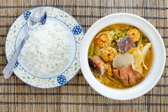 Ready to eat - hot and sour curry with tamarind sauce, shrimp an Stock Images